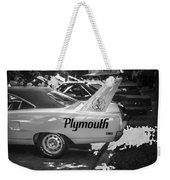 1970 Plymouth Road Runner Hemi Super Bird Bw Weekender Tote Bag
