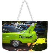 1970 Plymouth Road Runner Hemi Super Bird  Weekender Tote Bag