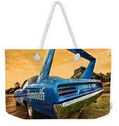 1970 Plymouth Road Runner Superbird Weekender Tote Bag