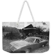 1970 Plymouth Superbird - Announcing A New Kind Of Runner Weekender Tote Bag