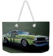 1970's Challenger Race Car Weekender Tote Bag