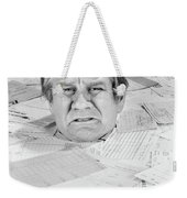 1970s Distressed Man Up To His Neck Weekender Tote Bag