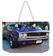 1971 Challenger Front And Side View Weekender Tote Bag