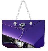 1971 Plum Crazy Purple Plymouth 'cuda 440 Weekender Tote Bag by Gordon Dean II