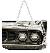 1971 Plymouth Cuda 383 Weekender Tote Bag