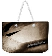 1972 Chevrolet Corvette Convertible Stingray 454 Hood Emblem Weekender Tote Bag