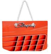 1972 Chevrolet Corvette Stingray Emblem 3 Weekender Tote Bag
