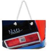 1972 Chevrolet Nova Ss Taillight Emblem -0355c Weekender Tote Bag