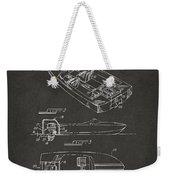 1972 Chris Craft Boat Patent Artwork - Gray Weekender Tote Bag