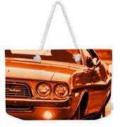1972 Dodge Challenger In Orange Weekender Tote Bag