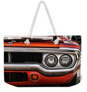 1972 Plymouth Road Runner Weekender Tote Bag