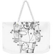1973 Nasa Astronaut Space Suit Patent Art 3 Weekender Tote Bag