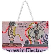 1973 Progress In Electronics Stamp Weekender Tote Bag