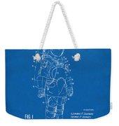 1973 Space Suit Patent Inventors Artwork - Blueprint Weekender Tote Bag