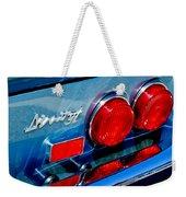 1974 Ferrari Dino Targa Gts Taillight Emblem Weekender Tote Bag