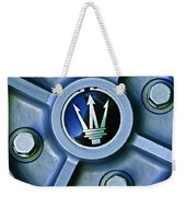 1974 Maserati Merak Wheel Emblem Weekender Tote Bag
