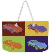 1975 Corvette Stingray Sportscar Pop Art Weekender Tote Bag