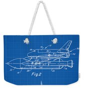 1975 Nasa Space Shuttle Patent Art 1 Weekender Tote Bag