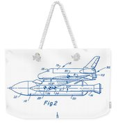 1975 Nasa Space Shuttle Patent Art 2 Weekender Tote Bag