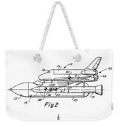 1975 Nasa Space Shuttle Patent Art 3 Weekender Tote Bag