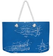 1975 Space Shuttle Patent - Blueprint Weekender Tote Bag by Nikki Marie Smith