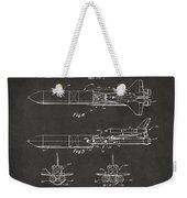 1975 Space Vehicle Patent - Gray Weekender Tote Bag