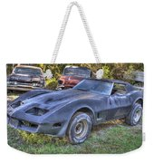 1977 Corvette Black Weekender Tote Bag