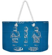 1979 Lego Minifigure Toy Patent Art 1 Weekender Tote Bag