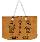 1979 Lego Minifigure Toy Patent Art 4 Weekender Tote Bag