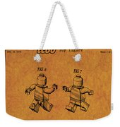 1979 Lego Minifigure Toy Patent Art 5 Weekender Tote Bag