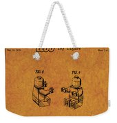 1979 Lego Minifigure Toy Patent Art 6 Weekender Tote Bag