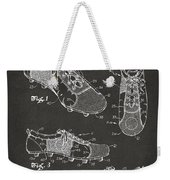 1980 Soccer Shoes Patent Artwork - Gray Weekender Tote Bag
