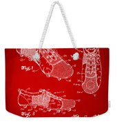 1980 Soccer Shoes Patent Artwork - Red Weekender Tote Bag