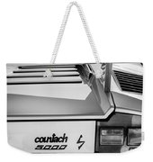 1982 Lamborghini Countach 5000s Taillight Emblem -0453bw Weekender Tote Bag