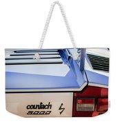 1982 Lamborghini Countach 5000s Taillight Emblem -0453c Weekender Tote Bag