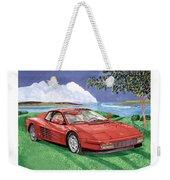 1987 Ferrari Testarosa  Weekender Tote Bag