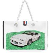 1989 Camaro Convertible Weekender Tote Bag