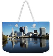 1990s Skyline Along The Scioto River Weekender Tote Bag