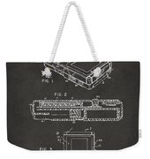 1993 Nintendo Game Boy Patent Artwork - Gray Weekender Tote Bag