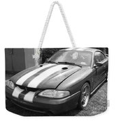 1996 Mustang Cobra In Black And White Weekender Tote Bag