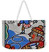 1996 Winter Skaters Stamp Weekender Tote Bag