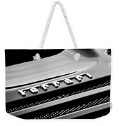 1997 Ferrari F 355 Spider Rear Emblem -153bw Weekender Tote Bag