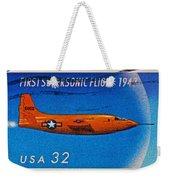 1997 First Supersonic Flight Stamp Weekender Tote Bag