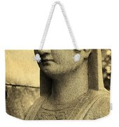 19th Century Granite Stone Sepia Sphinx Bust Poster Look Usa Weekender Tote Bag