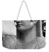 19th Century Granite Stone Sphinx Bust Black And White Poster Lo Weekender Tote Bag