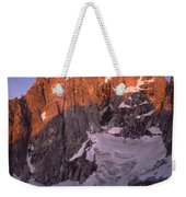 1m9380-sunrise On The North Face Of Grand Teton Weekender Tote Bag