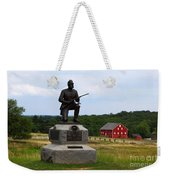 1st Pennsylvania Cavalry Defending Cemetery Ridge Weekender Tote Bag by James Brunker
