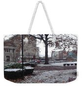 1st Snow Public Square Weekender Tote Bag