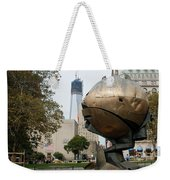 1w T C And The W T C Fountain Sphere Weekender Tote Bag