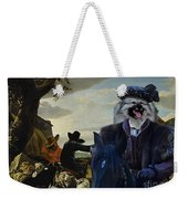 Keeshond Art Canvas Print Weekender Tote Bag